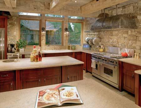 Pared de piedra en la cocina for Sukur pesadilla en la cocina