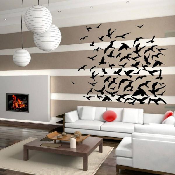 Vinilos decorativos con dise o de gaviotas for Diseno de paredes interiores casas