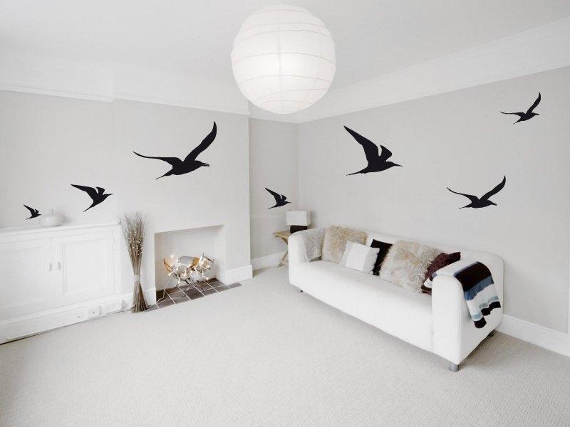 Vinilos decorativos con dise o de gaviotas - Dibujos de vinilo para paredes ...