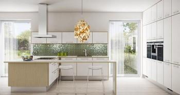 Cocinas mucho mas elegantes con las puertas de cristal decorativas.