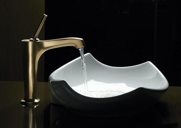 El material ideal para el lavabo del baño.