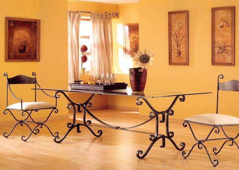 Mobiliarios hechos con hierro forjado for Muebles de fierro forjado