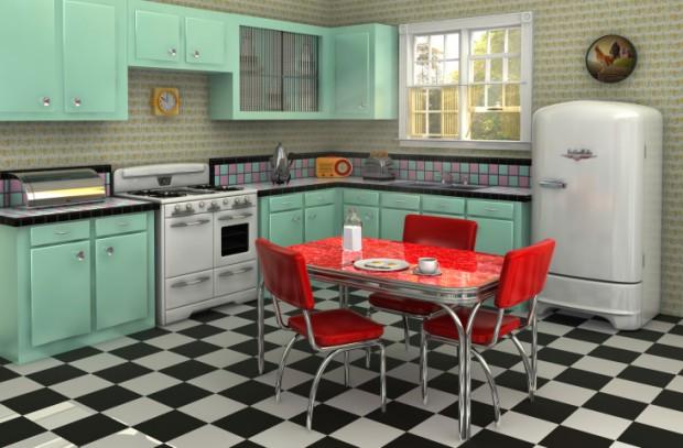 Cocina con estilo vintage originales