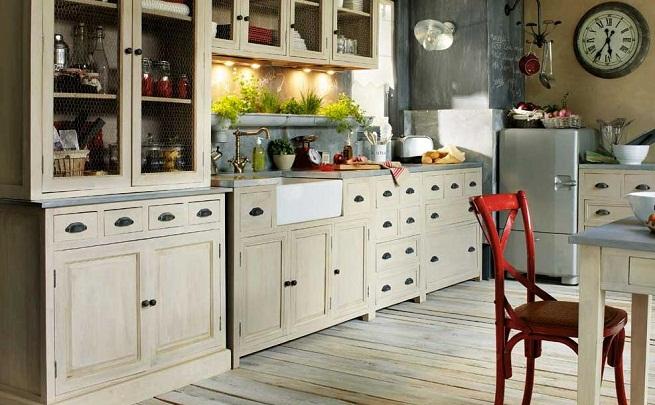 Decoracion de una cocina con estilo vintage for Decoracion muebles vintage