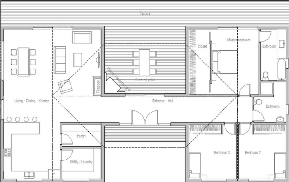 Planos de casas gratis con medidas for Piso 3 habitaciones alcobendas