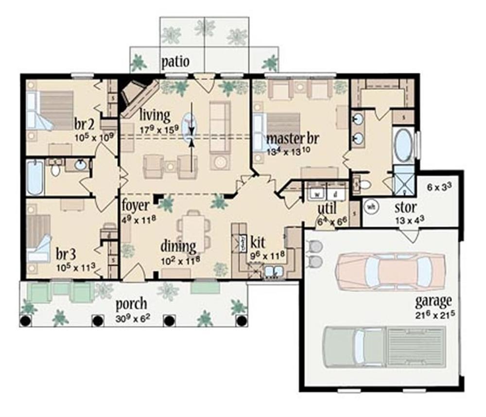 Planos de casas de campo gratis for Planos de casas para construir de una planta