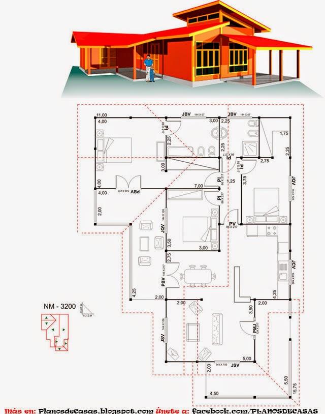 Planos de casas de campo gratis - Planos para casa ...