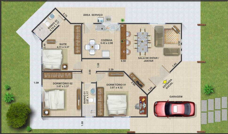 Planos de casas de campo gratis for Planos para construccion de casas