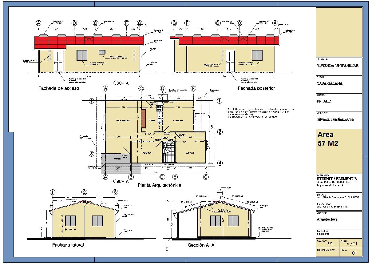 Planos de casas de interes social for Planos de casas rurales