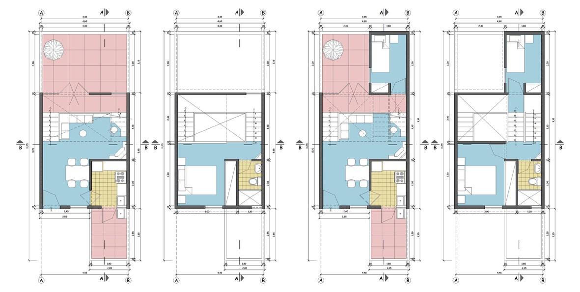 Planos de casas de interes social for Fachadas de casas modernas de interes social
