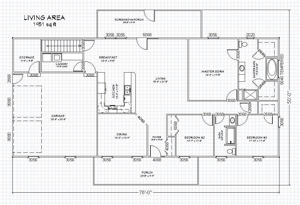 2 Bedroom Barndominium Floor Plans