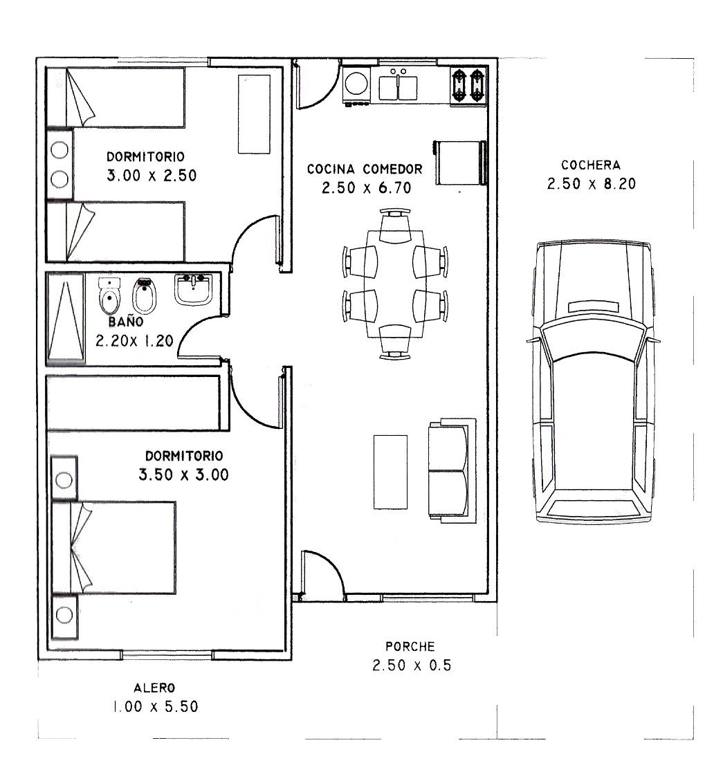 Planos de casas gratis con medidas - Amueblar casa por 1000 euros ...
