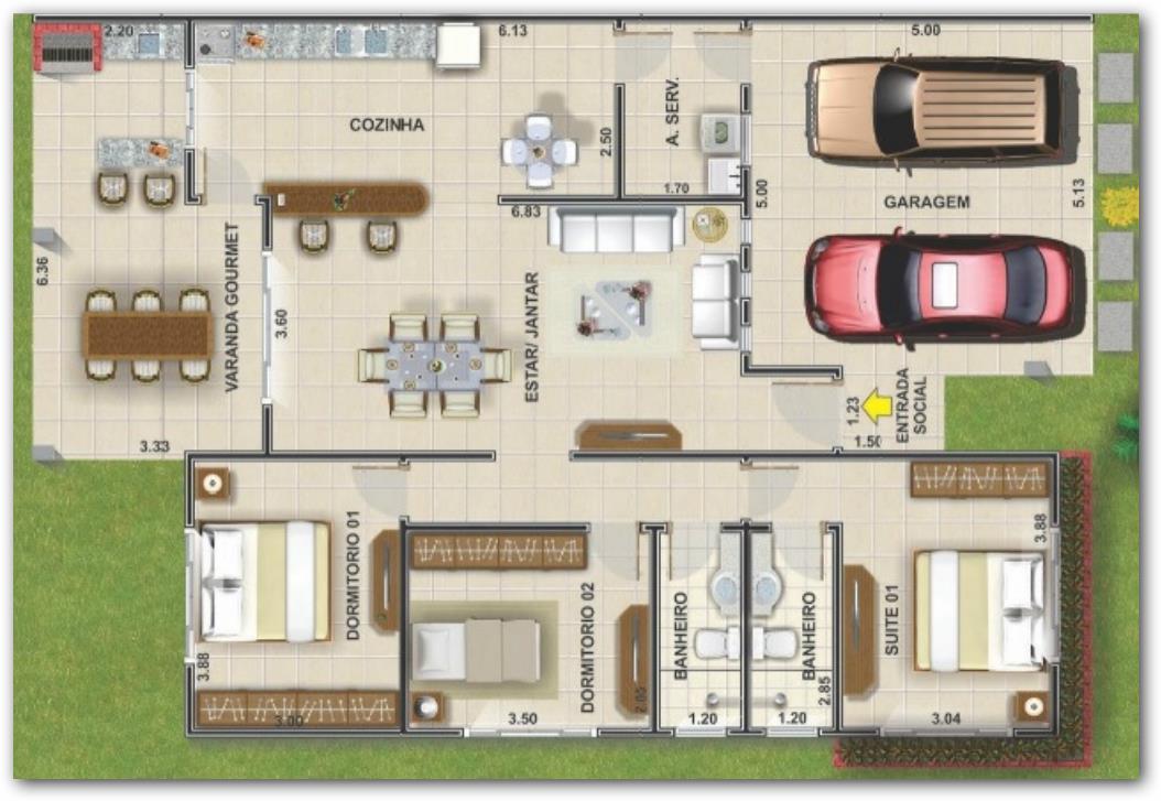 Planos de casas gratis con medidas for Planos de casas 200m2