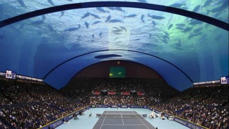 Cancha de tenis submarina en Dubai para ver