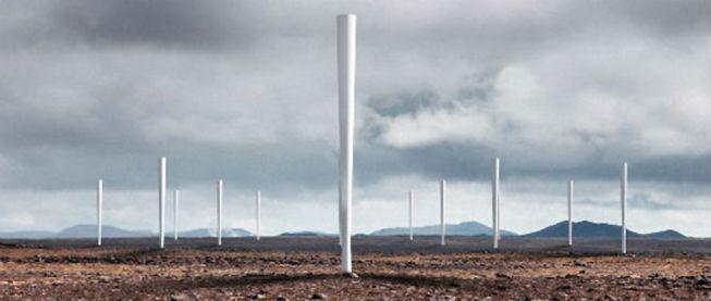 Molinos de viento sin aspas.