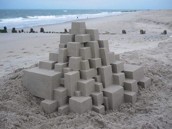 Castillos hechos de arena por Calvin Seibert, imagenes