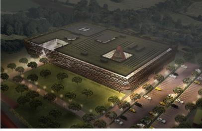 Especificaciones arquitectónicas del Centro de Cáncer en Ruanda, fotos