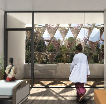 Especificaciones arquitectónicas del Centro de Cáncer en Ruanda, imagenes