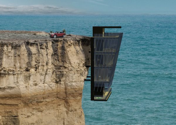 Espectacular vivienda incrustada dentro de un acantilado (4)