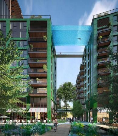 Una piscina nunca antes vista piscina al vacío entre dos edificios (1)