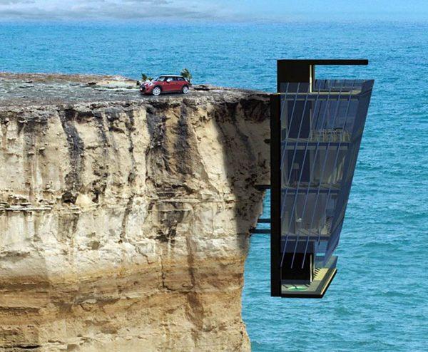 Casa suspendida en un acantilado (1)