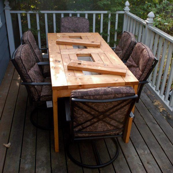 mesa hielera facil de construir