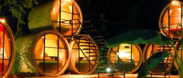 hoteles con tubos de cemento