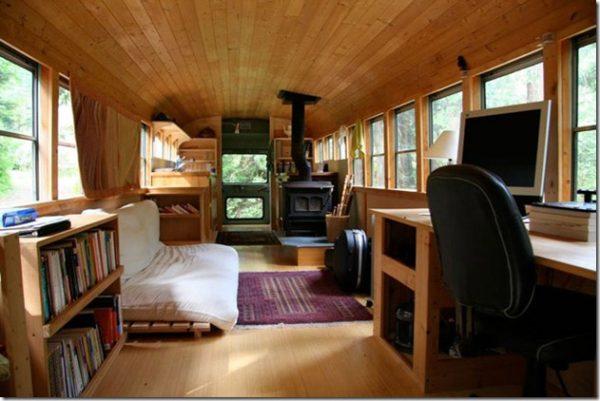Te atreverías a vivir en un viejo autobús escolar,