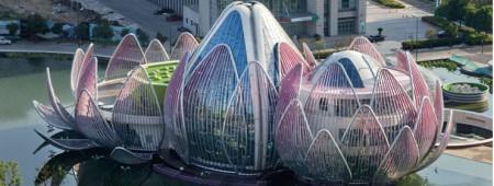 Lotus Building, espectacular edificio con forma de flor de loto..