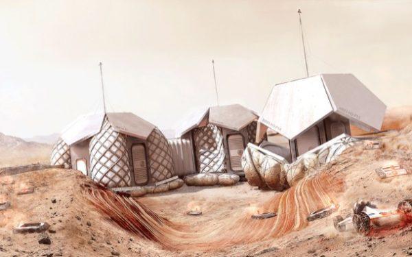Construcción de viviendas en Marte