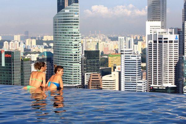 Hotel Marina Bay Sands, piscina infinita