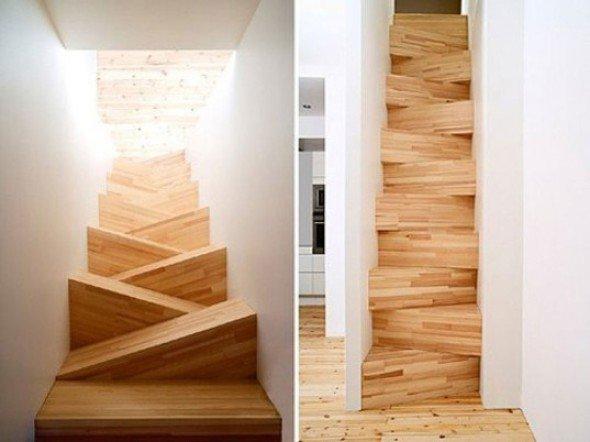 Las escaleras interiores mejor dise adas for Escalera de jardin de madera