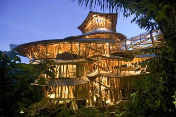 edificio de bambu