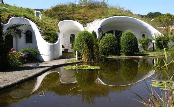 Casa madriguera en Suiza.