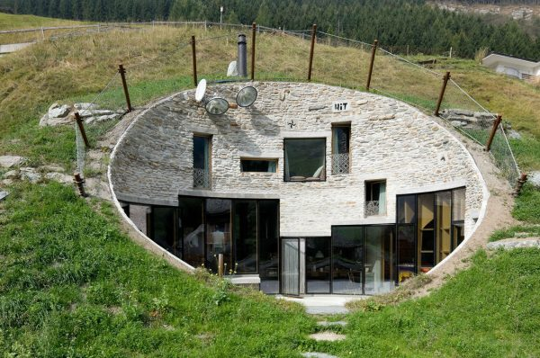 Casa subterránea de Vals, Suiza