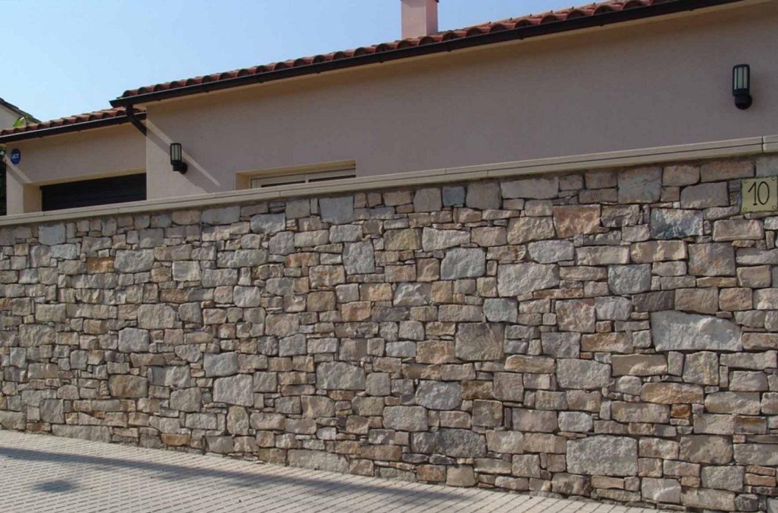 Tipos de muros Piedra pared exterior
