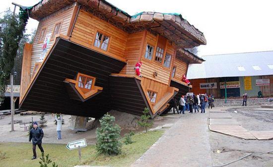 5 Casas con un diseño invertido, o al reves.